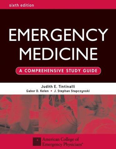 Emergency Medicine  6th 2004 edition cover