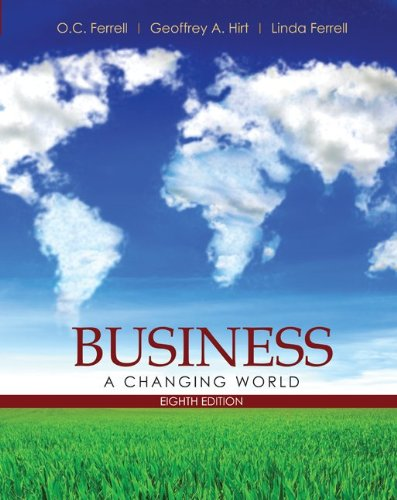 Business A Changing World 8th 2011 edition cover