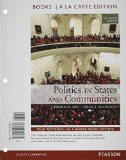 Politics in States and Communities + Mysearchlab With Etext Access Card: Books a La Carte Edition  2014 edition cover