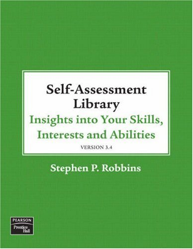 Self Assessment Library Insights into Your Skills, Interests and Abilities  2009 edition cover