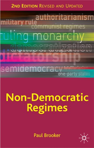Non-Democratic Regimes  2nd 2009 (Revised) 9780230202757 Front Cover