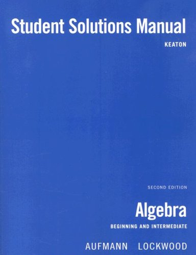 Algebra Beginning and Intermediate 2nd 2008 9780618820757 Front Cover