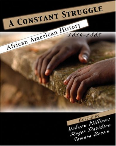 Constant Struggle African American History 1619-1865 Revised  9780757516757 Front Cover