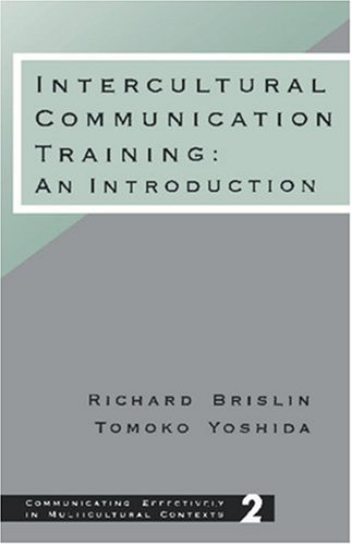 Intercultural Communication Training An Introduction  1994 edition cover