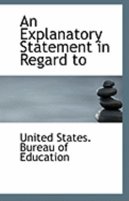 Explanatory Statement in Regard To  N/A 9781113267757 Front Cover