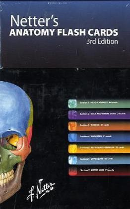 Netter's Anatomy Flash Cards With Online Student Consult Access 3rd edition cover