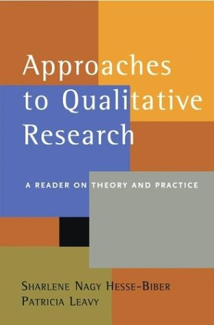 Approaches to Qualitative Research A Reader on Theory and Practice  2004 edition cover