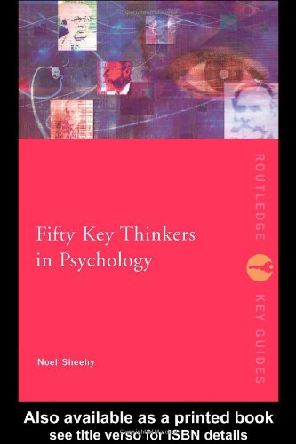 Fifty Key Thinkers in Psychology   2003 9780415167758 Front Cover