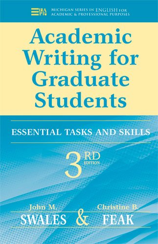 Academic Writing for Graduate Students Essential Tasks and Skills 3rd 2012 edition cover