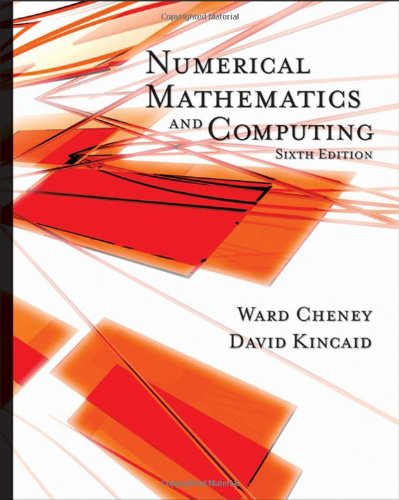 Numerical Mathematics and Computing  6th 2008 edition cover