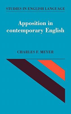 Apposition in Contemporary English   1992 9780521394758 Front Cover