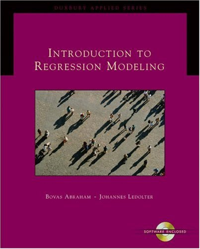 Introduction to Regression Modeling   2006 9780534420758 Front Cover