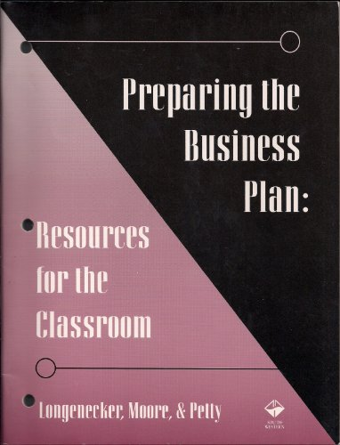Preparing the Business Plan Resources for the Classroom 9th 1994 9780538844758 Front Cover