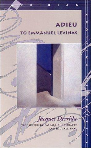 Adieu to Emmanuel Levinas   1999 edition cover