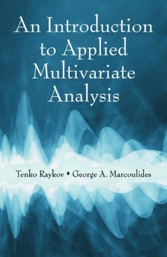 Introduction to Applied Multivariate Analysis   2008 edition cover