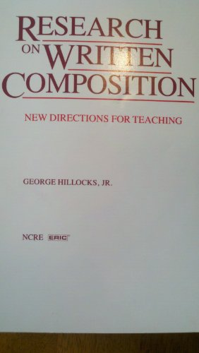 Research on Written Composition : New Directions for Teaching  1986 edition cover