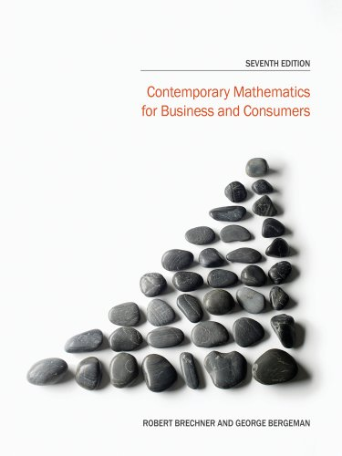 Contemporary Mathematics for Business and Consumers + Printed Access Card:   2014 edition cover