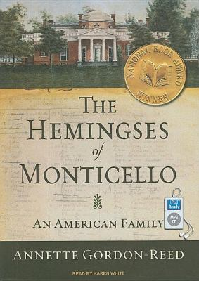 The Hemingses of Monticello: An American Family  2008 edition cover