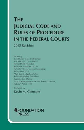 The Judicial Code and Rules of Procedure in the Federal Courts 2015 Revision:   2015 edition cover