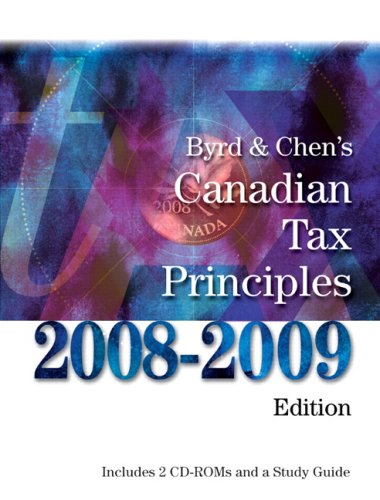 BYRD+..CANADIAN TAX PRIN.-W/SG N/A 9780132074759 Front Cover