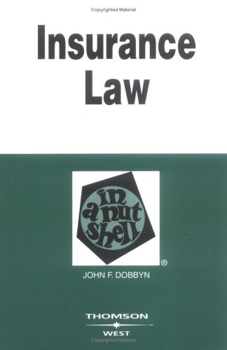 Insurance Law in a Nutshell  4th 2003 (Revised) edition cover