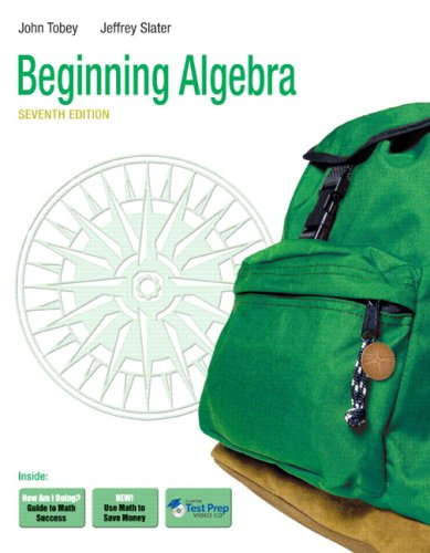 Beginning Algebra  7th 2010 9780321573759 Front Cover