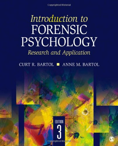 Introduction to Forensic Psychology Research and Application 3rd 2012 edition cover