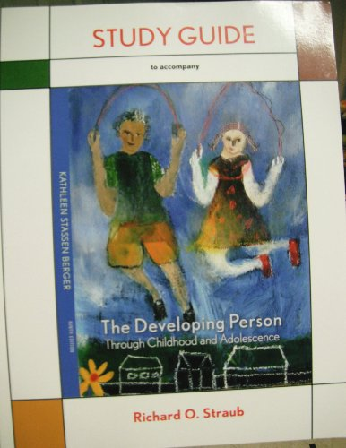 Developing Person Through Childhood and Adolescence Studyguide  9th edition cover