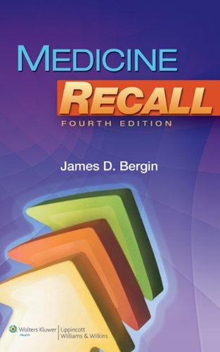Medicine Recall  4th 2011 (Revised) edition cover