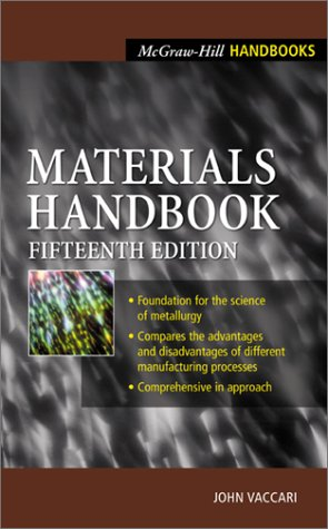 Materials Handbook  15th 2002 (Revised) edition cover