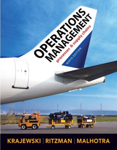 Operations Management  9th 2010 edition cover