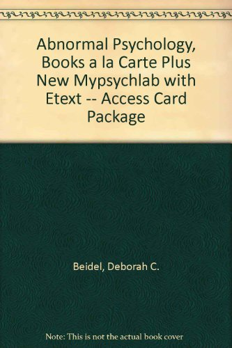 Abnormal Psychology, Books a la Carte Plus NEW MyPsychLab with EText -- Access Card Package  3rd 2014 edition cover
