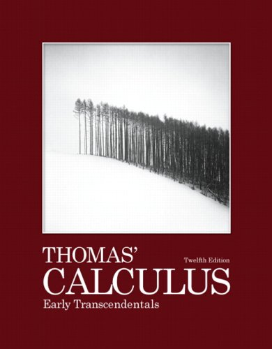 Thomas' Calculus Early Transcendentals 12th 2010 edition cover