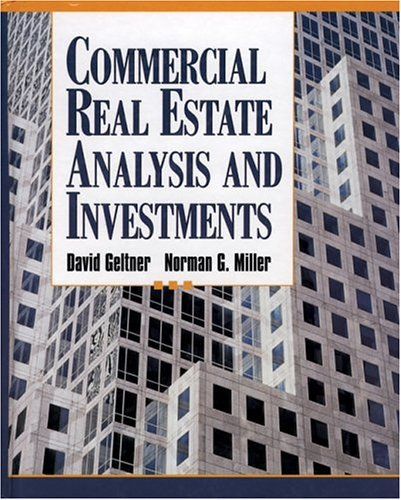 Commercial Real Estate Analysis and Investments   2001 edition cover
