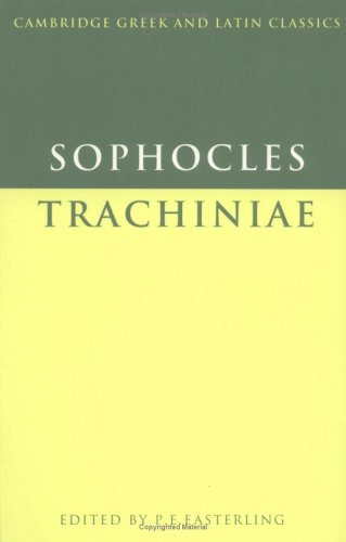 Sophocles Trachiniae  1982 9780521287760 Front Cover