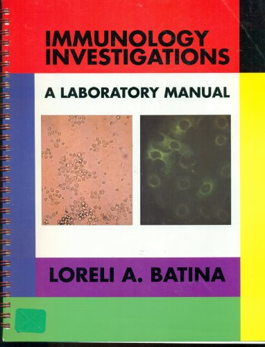 Immunology Investigations 1st (Lab Manual) edition cover