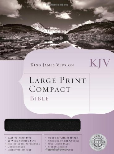 KJV Large Print Compact Bible, Black Bonded Leather   2001 (Large Type) 9781558198760 Front Cover