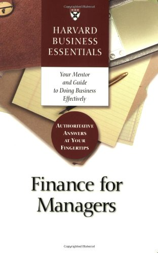 Finance for Managers   2003 edition cover