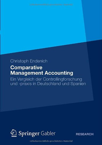 Comparative Management Accounting   2012 9783834942760 Front Cover