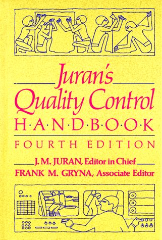 Juran's Quality Control Handbook 4th 1988 9780070331761 Front Cover