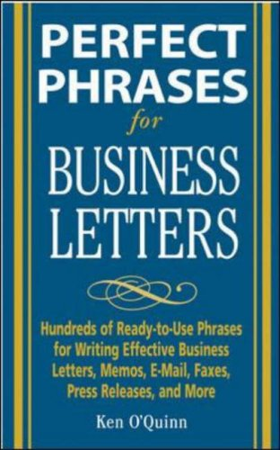 Perfect Phrases for Business Letters   2006 9780071459761 Front Cover