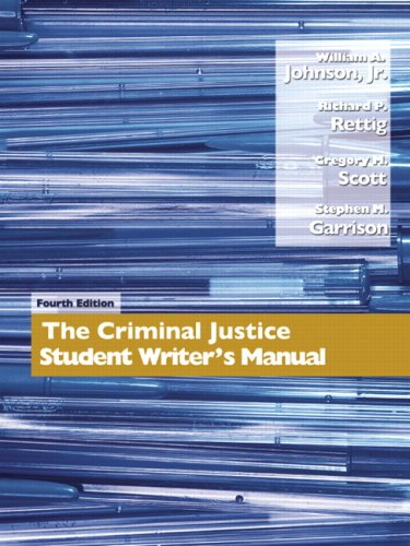 Criminal Justice Student Writer's Manual  4th 2008 edition cover