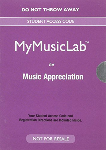 Music Appreciation  8th 2016 9780133861761 Front Cover