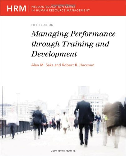 Managing Performance Through Training and Development  5th 2009 edition cover