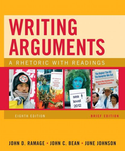 Writing Arguments A Rhetoric with Readings 8th 2010 (Brief Edition) edition cover