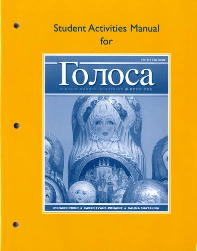 Golosa A Basic Course in Russian 5th 2012 edition cover
