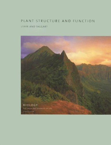 Plant Structure and Function  11th 2006 (Revised) 9780495125761 Front Cover
