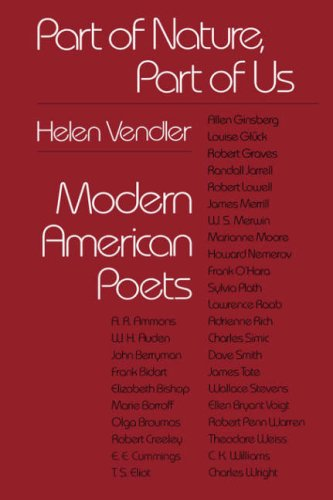 Part of Nature, Part of Us Modern American Poets  1980 edition cover