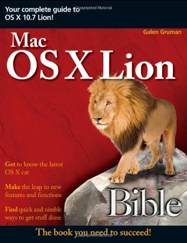 Mac OS X Lion Bible   2011 9781118023761 Front Cover