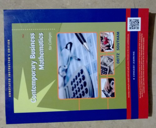 CONTEMPORARY BUS.MATH.F/COLL.>ANNOT<    N/A 9781133493761 Front Cover